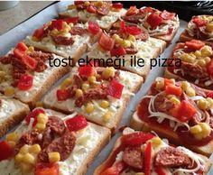 Tost ekmeği ile pratik pizza yapmak ister misiniz?
