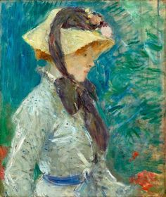 Petit Galerie d'Art: Berthe Morisot. Young Woman with a Straw Hat