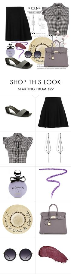 """""""Möbius (shoes)"""" by akchen ❤ liked on Polyvore featuring UN United Nude, River Island, Marissa Webb, Diane Kordas, Kate Spade, Marc Jacobs, Betsey Johnson, Hermès, Alice + Olivia and Kat Von D"""