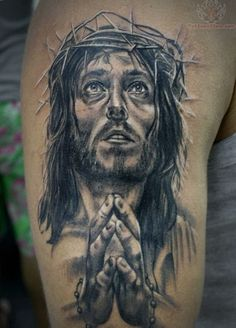 jesus tattoos | Jesus Praying Hands Tattoo 3302 › Awesome Graffiti Praying Hands ...