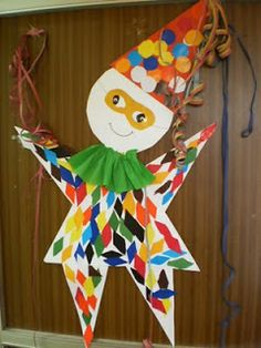 """5ο Νηπιαγωγείο Σερρών: """"Ο Αρλεκίνος μας!"""" Clown Crafts, Carnival Crafts, Preschool Crafts, Easy Crafts, Crafts For Kids, Projects For Kids, Art Projects, School Carnival, Art Plastique"""
