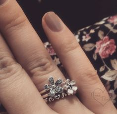 My Pandora ring haul from the UK 3-for-2 promotion <3