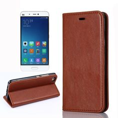 Flip Stand Fashion Luxury Leather Phone Cases Cover For Xiaomi Mi5 case Smartphone Android Mobile Phone Bag Celular For Mi 5 227 #Affiliate