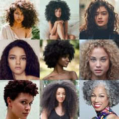 Natural Curly Textures in ALL  world beauty