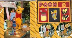 Disney and Orlando Vacation Scrapbook Pages: Disney and Orlando Vacation Scrapbook Pages - Pooh Pages