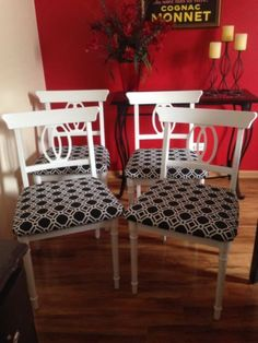 Restored Faux Bamboo Chinese Chippendale Dining Chairs