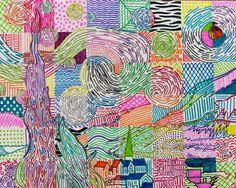 Van Gogh grid reproduction | Grafismo: líneas | Pinterest | Vans ...