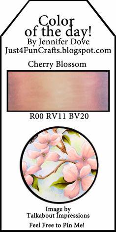 Copic Color Combos: Cherry Blossom via Jennifer Dove