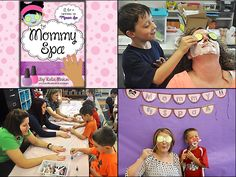 Little Warriors: The Mommy Spa: Celebrating Mother's Day the Important Way Mothers Day Spa, Mothers Day 2018, Mothers Day Crafts, Mother Day Gifts, Spa Day Party, Father's Day Activities, Father's Day Celebration, Preschool Gifts, Mom Day