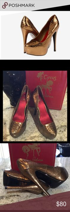 "Circus by Sam Edelman Victoria Circus by Sam Edelman Victoria Leather Synthetic sole Heel measures approximately 5.25"" Platform measures approximately 1.5""/   ***PRICE IS FIRM*** Circus by Sam Edelman Shoes Heels"
