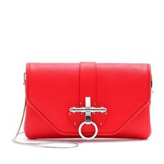 Givenchy red cluch bag