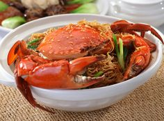 Kam Heong crab with noodles