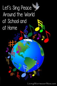 Resources to help schools and families participate in singing peace around the world on the International Day of Peace - Living Montessori Now Character Education Videos, Sign Language Book, Peace Songs, Peace Education, International Day Of Peace, World Kindness Day, Geography Activities, Schools Around The World, Singing Time