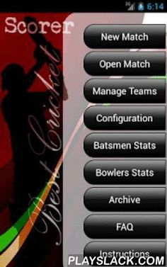 Best Cricket Scorer FREE  Android App - playslack.com ,  You can now maintain your Cricket scorecard in a single touch using Best Cricket Scorer. Light weight, fastest and easiest application to maintain the score for all forms of Gully Cricket. This is supported from Android v2.2 to the latest. Very attractive User interface (UI) provides the best view-ability and clear information.Best Cricket Scorer provides you a very unique set of configurations like:Wide ball Re-ball (Yes/No)No ball…