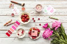Shades of pink. Table Decorations, Pink, Furniture, Food, Home Decor, Decoration Home, Room Decor, Hot Pink, Home Furniture