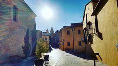La bajada del sol en el casco antiguo de Riba-roja de Turia. #muycerca