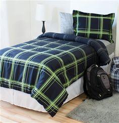 Brookings Comforter is perfect #BoysRoom #Guycomforter #CollegeBedding #Dormroom