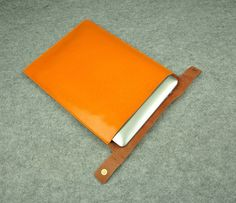 Yellow Leather Macbook 13inch Case  Leather 13 inch door ZzzSun