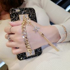 Luxury Rhinestone Tassel Phone Case - iPhone - My Lux Boutique