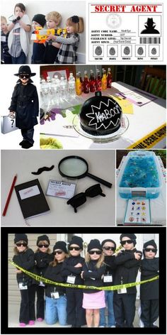 Inspiration til børnefødselsdag med hemmelig spion tema - It's Fashion, Baby! Geheimagenten Party, Spy Kids Party, Spy Birthday Parties, Superhero Birthday Party, Boy Birthday, Secret Agent Party, Detective Party, Ninja Party, Summer Fun List