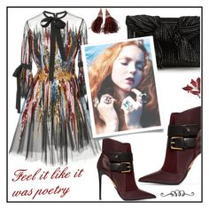 """Poetry"" by ceci4diplomazy on Polyvore featuring moda, Balmain, Elie Saab e Louis Vuitton"