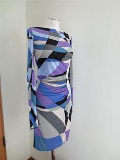 EMILIO PUCCI WOMENS JERSEY PRINT DRESS STRETCH 10