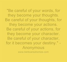 Choose your words carefully. #motivation