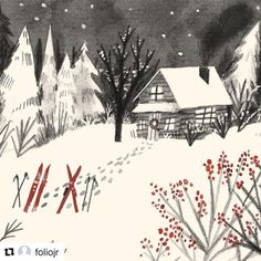 Repost of my work from @foliojr (the agency that represents me!) , check out their new Instagram! 😊❄️