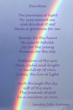 a promice of God's love poem - Yahoo Image Search Results Rainbow Poem, Love Rainbow, Over The Rainbow, Rainbow Baby, Faith Quotes, Life Quotes, Qoutes, Rainbow Promise, Gods Promises