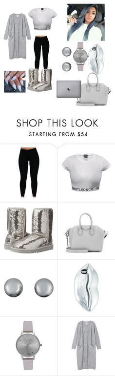 """like if you like grayyy"" by pinkgoldd ❤ liked on Polyvore featuring UGG Australia, Givenchy, Kenneth Jay Lane, STELLA McCARTNEY, Olivia Burton and Monki"