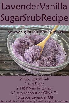 Lavender Vanilla Sugar Scrub Recipe- Diy Body Scrub