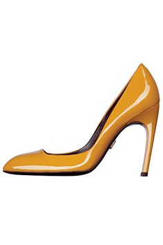 Roger Vivier FW 2012 ///beautiful yellow work pump.