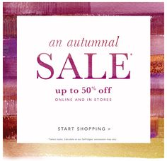 An Autumnal Sale