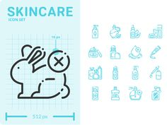 Skincare Icon Set designed by BEARFRUIT IDEA. Connect with them on Dribbble; Event Website, Show And Tell, Icon Set, Icon Design, Skin Care, Instagram, Style, Swag, Skincare Routine