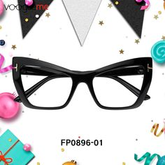6263773c120 Danielle Cat Eye Black Eyeglasses These glasses are made of high quality  plastic. Still a