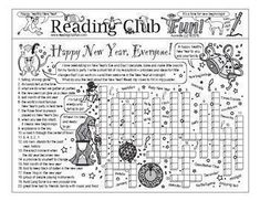 bundle happy new year everyone printable puzzles