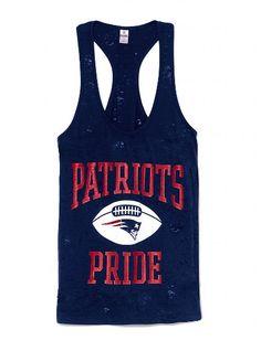 New England Patriots Racerback Tank - Victoria's Secret PINK® - Victoria's Secret