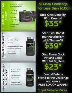 Get fabulous weight loss results using our triple threat!!! Buy it now and get $10 back  wwww.kaystarcrazy.myitworks.com