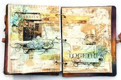 Finnabair Feature-inside pages of @Ania Dabrowska 's journal!