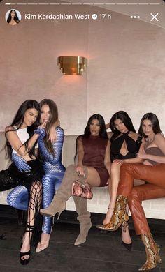 Kardashian Jenner, Kourtney Kardashian, Kendall Jenner, National Sisters Day, Leather Pants, Capri Pants, Photo And Video, Couple Photos, Outfits