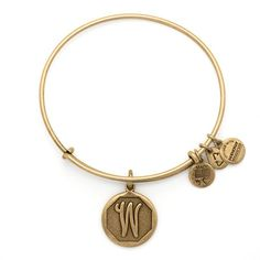 www.thebeautyof.us | Initial W Charm Bracelet | Alex and Ani bangles