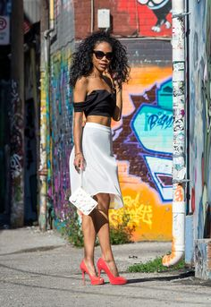 BlasianGurl, Victoria Kristine, Toronto, Toronto Blogger, Fashion Blog, Fashion Blogger, Sorella Boutique, Windsorstore, Summer, Shoes, Crop Top, Sheer Skirt, Aldo Accessories, Vince Camuto