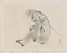 Kōno Bairei, Performing Monkey - Museum of Fine Arts