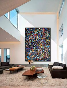 Jackson pollock large artwork, Abstract paintings, Jackson pollock style, Black yellow art Pollock s Large Artwork, Large Painting, Large Wall Art, Painting Canvas, Splatter Paint Artist, Splatter Paint Canvas, Abstract Canvas, Canvas Wall Art, Abstract Paintings