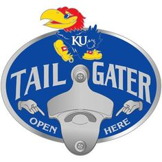 Kansas Jayhawks NCAA Tailgater Logo Hitch Cover