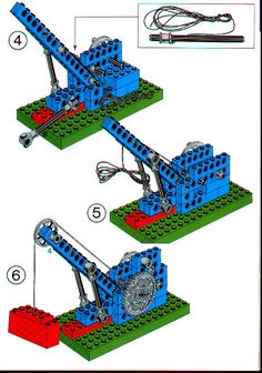 LEGO 1031 Universal Set instructions displayed page by page to help you build this amazing LEGO Technic set Lego Engineering, Lego Minecraft, Minecraft Pattern, Minecraft Buildings, Lego Desk, Modele Lego, Lego Technic Sets, Lego Universe, Lego Machines