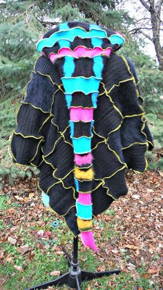 Poncho & Arm Warmers made from Recycled by SewFreakinHappy on Etsy