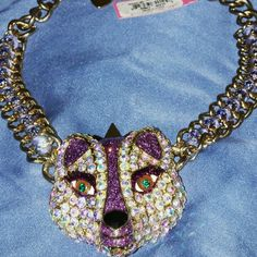 """Betsey Johnson Fox frontal statement necklace? Brand new w/tags. Approx 17"""" long + 3"""" extender Embellished with crystals- Gold hardware. Beautiful piece by Betsey Johnson Betsey Johnson Jewelry Necklaces"""