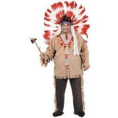 Disfraz de indio talla grande para hombre