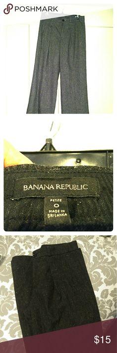 Marled Gray/Black Wide Leg Pants Banana Republic Beautiful Banana Republic wide leg pants. Lined. Very classy . Banana Republic Pants Wide Leg